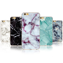 Fashion Phone Cases For iPhone 7 6 6S 5 5S SE 7Plus 6sPlus 4S 5C Marble Image Painted Landscape Pattern Cover Oil Painting Capa