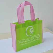 500pcs/lot 20*25*10cm reusable shop hand bag shopping gift non woven bag webshop eco recycle bag with one color logo print