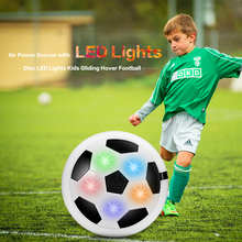 Funny LED Light Flashing Ball Toys Air Power Soccer Balls Disc Gliding Multi-Surface Hovering Football Game Toy Kid Chidren Gift(China)