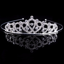 Fashion Bridal Wedding Rhinestone Crystal Hair Headband Crown Comb Tiara Prom Pageant-W128