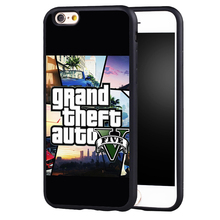 Famous GTA grand theft auto 5 V phone case cover for Samsung Galaxy s4 s5 s6 S7 edge S8 plus note 2 3 4 5(China)