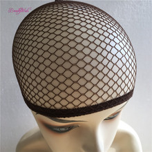 Cheap Hairnet 10Pcs Fashion Stretchable Mesh Wig Cap Black Mesh Weaving Black Blonde Color Wig Hair Net Making Caps Hairnets(China)