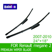 "RAINFUN S550 Wipers Size:24""+18""Fit For Renault megane II (2007-2010)Wiper blade rubber replacement Limpiaparabrisas"