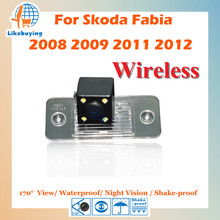 Wireless Parking 1/4 Color CCD Rear View Camera For Volkswagen 2008 2009 2011 2012 Skoda Fabia Night Vision / 170 degree(China)