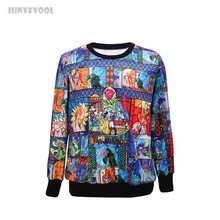 Jumpers Women's 3D Cartoon Anime Fairy Tale Print Casual Hoody Shirts Sweatshirt Unisex Loose Pullover Tops Tracksuit Coats