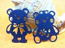 METAL CUTTING DIES 2pc teddy bear toy doll love couple bowknot marriage Scrapbook album PAPER CRAFT embossing stencils cutter(China)