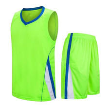 Green Basketball Jersey No Brand High quality Training Basketball Jersey Sets New Season LD-8091(China)