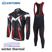 XINTOWN 2017 Warm Fleece Thermal Clothing Cycling Jackets Long Sleeve Jerseys MTB Bike Bicycle Ciclismo Cycling Jersey Hot Sale(China)
