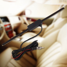 Amplified Car Window Interior Mount Audio Stereo AM FM Antenna High Sensitivity