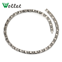 Wollet Jewelry 50 Cm Health Energy Pure Germanium Hematite Titanium Necklace For Women