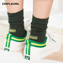 [COSPLACOOL] Made in China thick women socks funny socks warm Harajuku Retro solid color Sexy meias Female socks letter pattern(China)