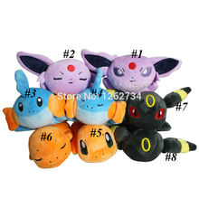 Free Shipping 8 Styles Plush Espeon Umbreon Mudkip Charmander Soft Toy 8""