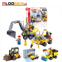 City Construction Series Building Blocks Excavator Truck Model Assembling Bricks Small Toys Compatible For Children Gift