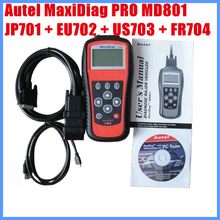 2012 Autel MaxiDiag PRO MD801 4 in 1 Code Reader (JP701 + EU702 + US703 + FR704) Free Shipping(China)