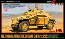 RealTS Tamiya 89777 1/48 German Armored Car Sd.Kfz.222 Scale Model Kit