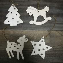 Deer, hobbyhorse, star, Christmas tree ornaments, wooden accessories, idea for Christmas Tree decoration
