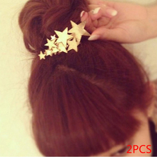 2pcs Fashion Lovely Hair Clip for Women Girl Baby Beach Hair Barrete Starfish Wedding Prom(China)