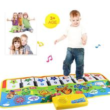 Hot keyboard Touch Play Keyboard Musical Music Instrument Singing Gym Carpet Mat Best Kids Baby Gift musical toys for children(China)