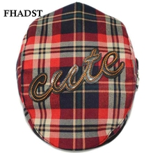 FHADST Summer Fashion Baby Boys Hats Caps Child Sun Hat Girls Kids Plaid Trilby Straw Hat Toddler Beach Hats 6 Colors Cap Fit