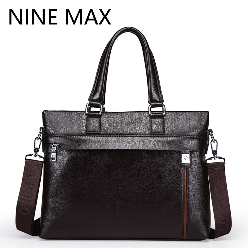 New Satchels PU Leather Single Shoulder Bag Luxury Fashion Message Bag Men Handbags Male Casual Business Briefcases<br>