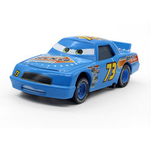 "Disney Blue No.73 ""Rev-N-GO "" Diecast Metal Toy  Pixar Cars Movie Macqueen Racing Alloy Car Model Children Toy 1:55"