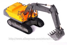 Detachable Electric Digger Big Remote control Truck 1:28 RC 8CH RC Excavator Truck Toy Car(China)