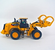 jing bang 1:50 grab wood machine Children's toy car forklift alloy bulldozer excavator simulation model loading truck car(China)