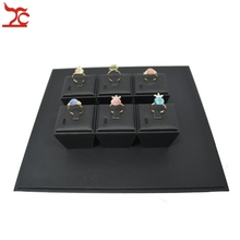 Brand New Classic Jewelry Display Prop Black Leatherette Ring Holder  Windowshow Counter Showcase Kit 26*26*8cm