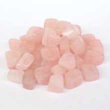2015 Natural rose quartz pink Crystal Gem Stone Tumbled Stone Healing Reiki Wicca point beads 100g Wholesale price