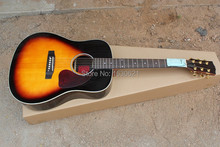 2015 New + Factory + Chibson J45 acoustic guitar solid spruce top J45 electric acoustic guitar rosewood body