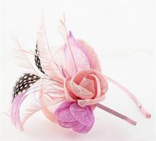 Sinamay Hat Fascinator Flower Headband Hairband Wedding Hats And Fascinators Bridal Hair Acessories Headbands Headdress WIGO0506