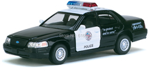 5'' DieCast Boys Fashion Super Quality Ford Crown Victoria Police Interceptor Children Education Alloy model toy cars Kids Gift