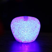 LED 7 Colors Changing Lights EVA Night Light Kids Toys Apple Gradient Crystal Led Lamp with Battery for Christmas Holiday Gift