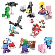 8pcs star wars Game Catoon Zombie Sheleton Creeper building blocks lepin  model bricks Baby toys for children juguetes
