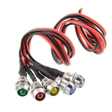 Cool 5x LED Indicator Light Lamp Pilot Directional For Car color White(China)