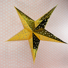 (1pc only) 30cm=12inch Gold Creative Paper Star Lanterns Lamps Hanging Winter Holiday Wedding Party Decorations