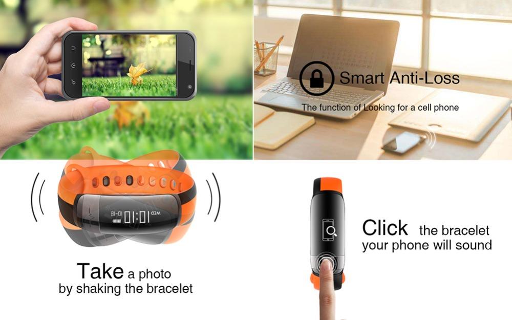 HUINIU Sport Smart Band Waterproof Bluetooth Bracelet Activity Tracker Heart Rate Monitor Smartband Message Reminder Wristbands 9
