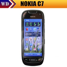 Unlocked C7 Original Nokia Mobile Phone 8GB Storage Camera 8.0MP Wifi GPS 3G Cell Phone