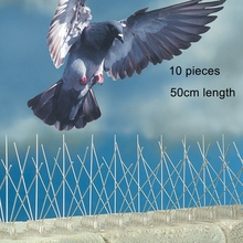 50cm Length  Kit Stainless Steel Bird Spikes With Transparent Silicone Glue in Bird Control Bird Reject