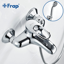 Frap Complete sets Silver Bathroom Shower Faucets Bathtub Faucet Mixer Tap With Hand Shower Sets Body Brass F3204 F3201 F3256(China)