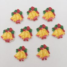 Buy DIY 10pcs 21mm Resin hand painting Christmas bell Flatback stone/ Children DIY scrapbook K062 for $1.88 in AliExpress store