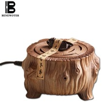 220V Chinese Vintage Electric Ceramic Perfume Diffuser Aromatherapy Burner Essential Oil Heater SPA Yoga Aroma Holder Stove Base(China)