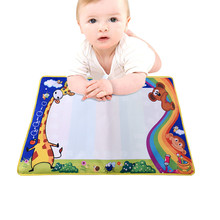 74cmX49cm Baby Kids Add Water with Magic Pen Doodle Painting Picture Water Drawing Play Mat in Drawing Toys Board Gift Christmas(China)