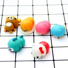 Mini Soft Squishy Hello Kitty Dog Pig Slow Rising Animal Key Chain For Cell Phone Strap Kid Gifts(China)