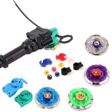 Hot Beyblade Spinning Top Set Metal Fusion 4D Launcher Beyblade Burst Treasure Childhood Game Hand Spinne Toy Christmas Gift