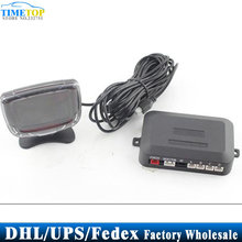DHL/Fedex/UPS 50pcs/lot Car LCD parking sensor system digital display with 4 sensors PZ500 parktronic(China)