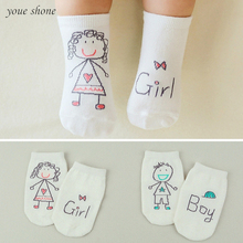 New!!! 2017 Spring/Autumn Winter Baby Cotton Socks Boys Girls Newborn Infant Toddler Asymmetry Anti-slip Floor Wear Quality(China)