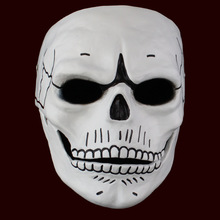 Spectre Full Face JAMES BOND Ghost Party Mask 007 Skull Skeleton Unisex Cosplay Props Party Halloween Carnival Resin Masks(China)