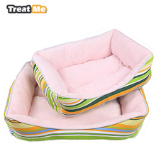 Pets Supplies Beautiful Rainbow Dog Bed Soft Comfortable Dog House Warm Breathable Dog Kennel Pets Daily Products For Cats Dogs(China)