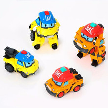 2017 New Robot Korean Toys Anime Action Figures Car Bucky Mark Transformation Toys Deformation Car For Children Birthday Gifts